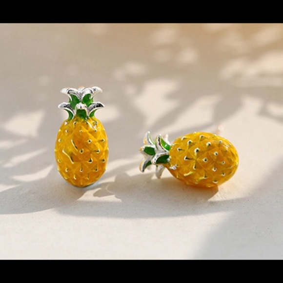66aee3c54 Jewelry | Sterling Silver 925 Pineapple Stud Earrings | Poshmark